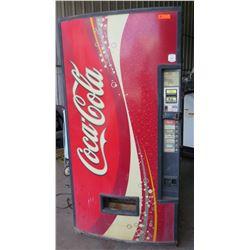 Full Size Coca-Cola Refrigerated Soda Dispensing Vending Machine