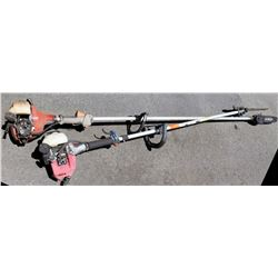 Qty 2 Hitachi CZ23N Red Max & Hitachi Straight Shaft Trimmers (needs repair, parts may be missing, d