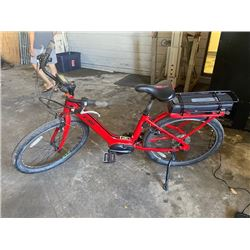 Vibe Electric Bicycle w/ Charger, Red Frame