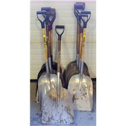 LOT OF 11 ASSORTED METAL SCOOP SHOVELS
