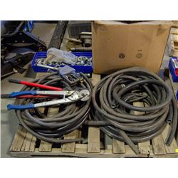 PALLET OF TUBING, PIPE FITTINGS, & BOLT CUTTERS