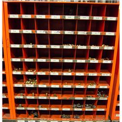 METAL PART ORGANIZER W/ CONTENTS INCL:  PIPE