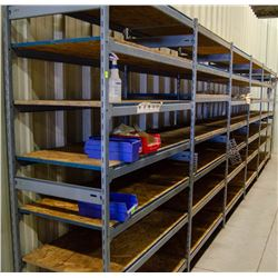 LOT OF 6 SECTIONS OF E-Z RECT SHELVING