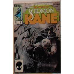 An RARE Marvel Comics Solomon Kane Volume 1 #3 January 1986 - bande dessinée rare