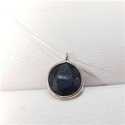 14 KT Gold, Ladies hand made floating stone 2.80 ct blue sapphire pendant includes appraisal documen
