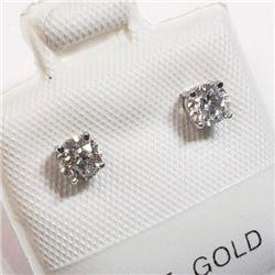 Ladies 14 KT Gold, Diamond Solitaire .40 carat earring set includes appraisal documents $1760.00