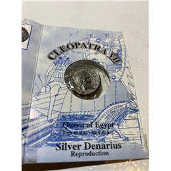 Cleopatra VII Silver Denarius repo collector coin