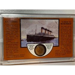 A ship to remember S.S. Titanic commemorative with 1912 USA nickel