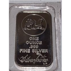 Silver towne one ounce silver .999 wafer bar