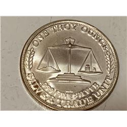 USA one troy ounce .999 silver trade unit