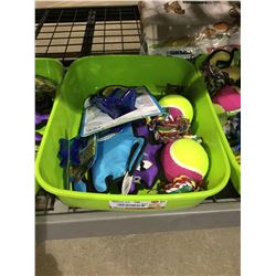 Bin of Assorted Dog Toys