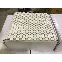Penny Rounds - Gloss Snow White Tiles - (310mm x 315mm) - 22 Tiles/Box