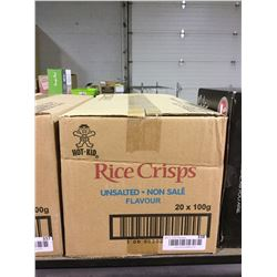 Case of Rice Crisps Unsalted (20 x 100g)