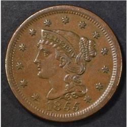 1855 LARGE CENT BU