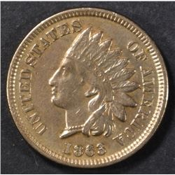 1863 INDIAN CENT XF