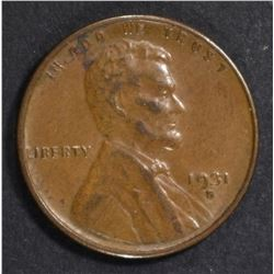 1931-S LINCOLN CENT XF/AU