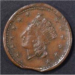 1864 UNION FOREVER CIVIL WAR TOKEN XF CLIPPED
