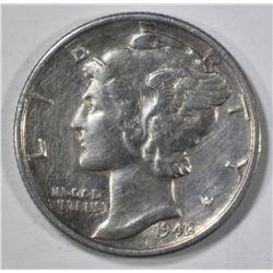 1942/1 MERCURY DIME, AU
