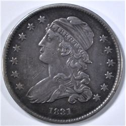 1831 LARGE LETTERS BUST QUARTER XF
