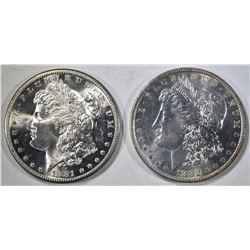 1881-S & 1882-O MORGAN DOLLARS GEM BU