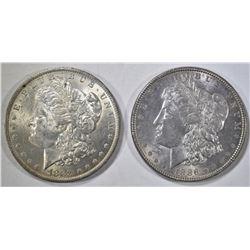 1883-O & 1886 MORGAN DOLLARS CH BU