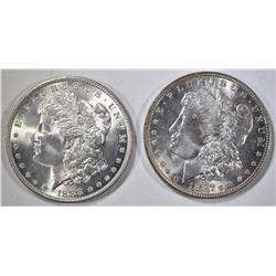 1887 & 1888 MORGAN DOLLARS CH BU