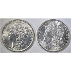 1889 & 1890 MORGAN DOLLARS CH BU