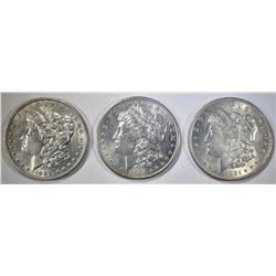 1903 AU, 04-O BU, & 1921 BU MORGAN DOLLARS