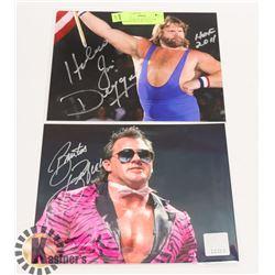 WWE HAWSAW JIM DUGGAN & BARBER BEEFCAKE SIGNED