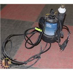 1/4 HP SUBMERSIBLE THERMOPLASTIC SUMP PUMP