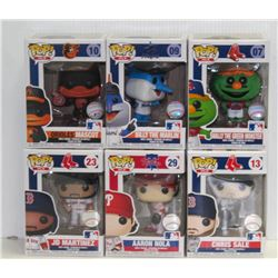 LOT OF 6 ASSORTED FUNKO POPS: MLB VARIETY PACK-