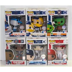 LOT OF 6 ASSORTED FUNKO POPS: SPORTS VARIETY PACK-