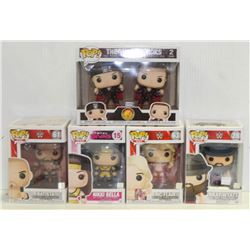 LOT OF 6 ASSORTED FUNKO POPS: WWE VARIETY PACK-