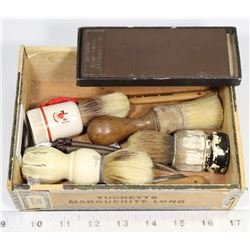 ANTIQUE STRAIGHT RAZOR BRUSHES ETC.