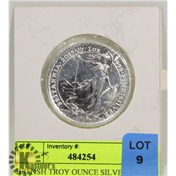 BRITISH TROY OUNCE SILVER ROUND
