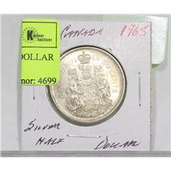 1965 CANADA SILVER HALF DOLLAR