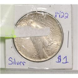 1922 USA PEACE SILVER DOLLAR