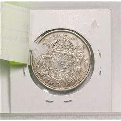 1954 CANADA SILVER HALF DOLLAR
