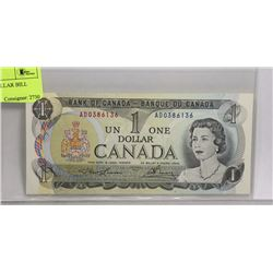 1973 CANADIAN $1 DOLLAR BILL