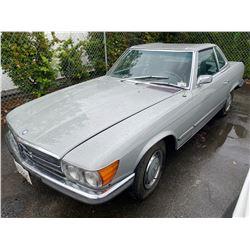 1972 MERCEDES 350SL, 2DR CONVERTIBLE, HARD TOP, GREY, VIN # 10704412000941