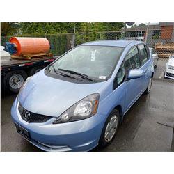 2010 HONDA FIT, HATCHBACK, BLUE, GAS, AUTOMATIC, VIN#JHMGE8H5XAC805985, 103,543KMS