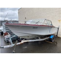 SANGSTER BOAT AND TRAILER NO REGI, TRAILER HITCH BROKEN AND BENT, *MUST TOW*