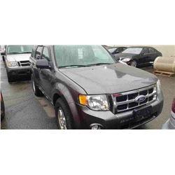 2011 FORD ESCAPE, 4DR SUV, GREY, VIN # 1FMCU0D74BKA58205