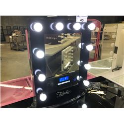 "FONTAINEBLEAU ""HOLLYWOOD"" VANITY MIRROR WITH BLUETOOTH SPEAKERS, TOUCH CONTROLS, 10 DIMMABLE"