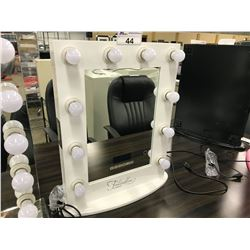 """FONTAINEBLEAU """"HOLLYWOOD"""" VANITY MIRROR WITH BLUETOOTH SPEAKERS, TOUCH CONTROLS, 10 DIMMABLE"""