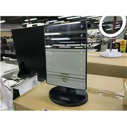 CASE OF 12X LED LIGHTED DESKTOP VANITY MIRROR, ULTRA BRIGHT 16 LEDS, 180 DEGREE ADJUSTABLE, TOUCH