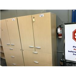 6' DOUBLE DOOR 3 DRAWER LATERAL FILE CABINET