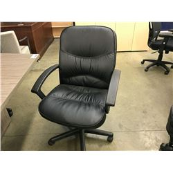 BLACK MID BACK EXECUTIVE CHAIR, CONDITION ISSUES
