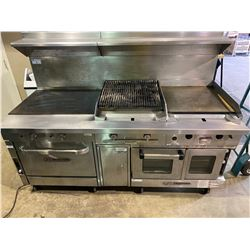 SOUTHBEND STAINLESS STEEL NATURAL GAS 5 PCS MOBILE CULINARY STATION INCLUDING: P32D-HH HEAVY DUTY