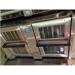 DOUBLE BLODGETT ZEPHAIRE 200-E STAINLESS STEEL MOBILE ELECTRIC CONVECTION OVENS
